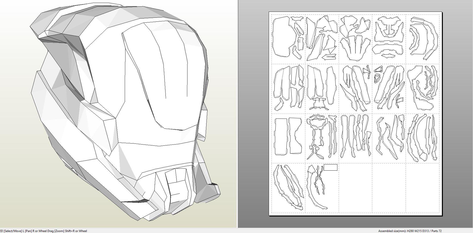 papercraft  pdo file template for destiny