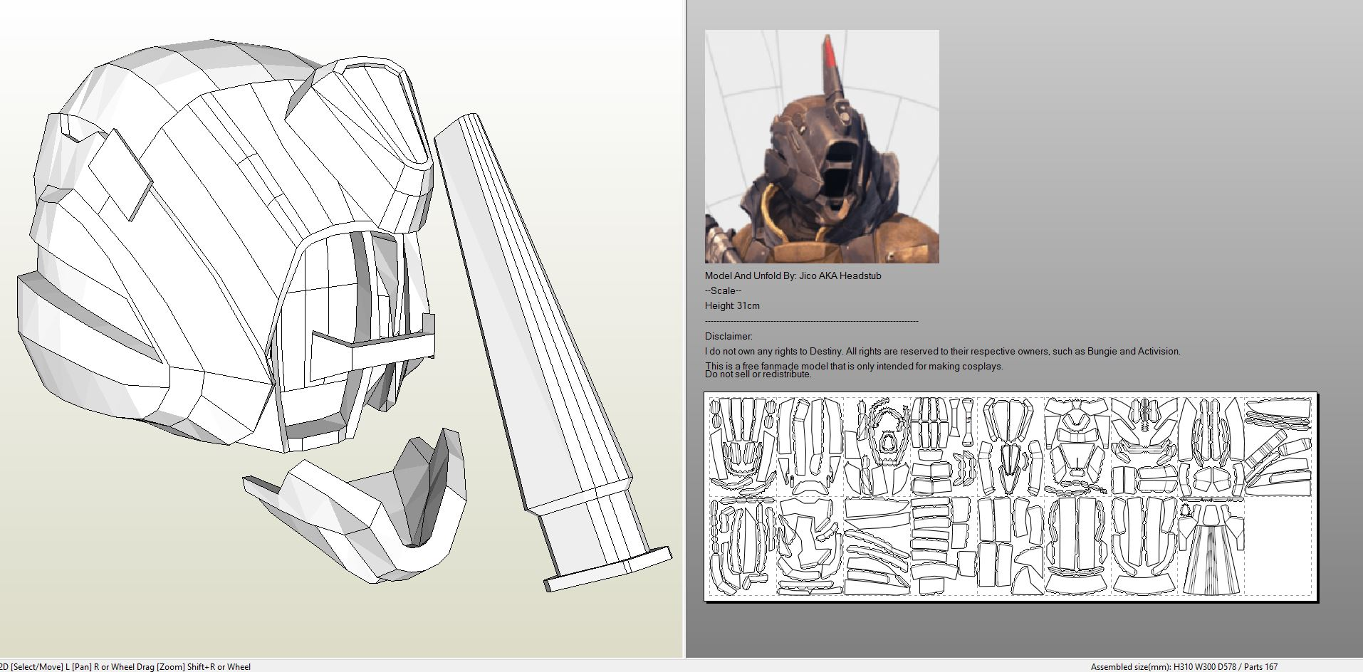 Papercraft pdo file template for destiny alternate warlock helmet destinywarlockvonehelmet pronofoot35fo Image collections