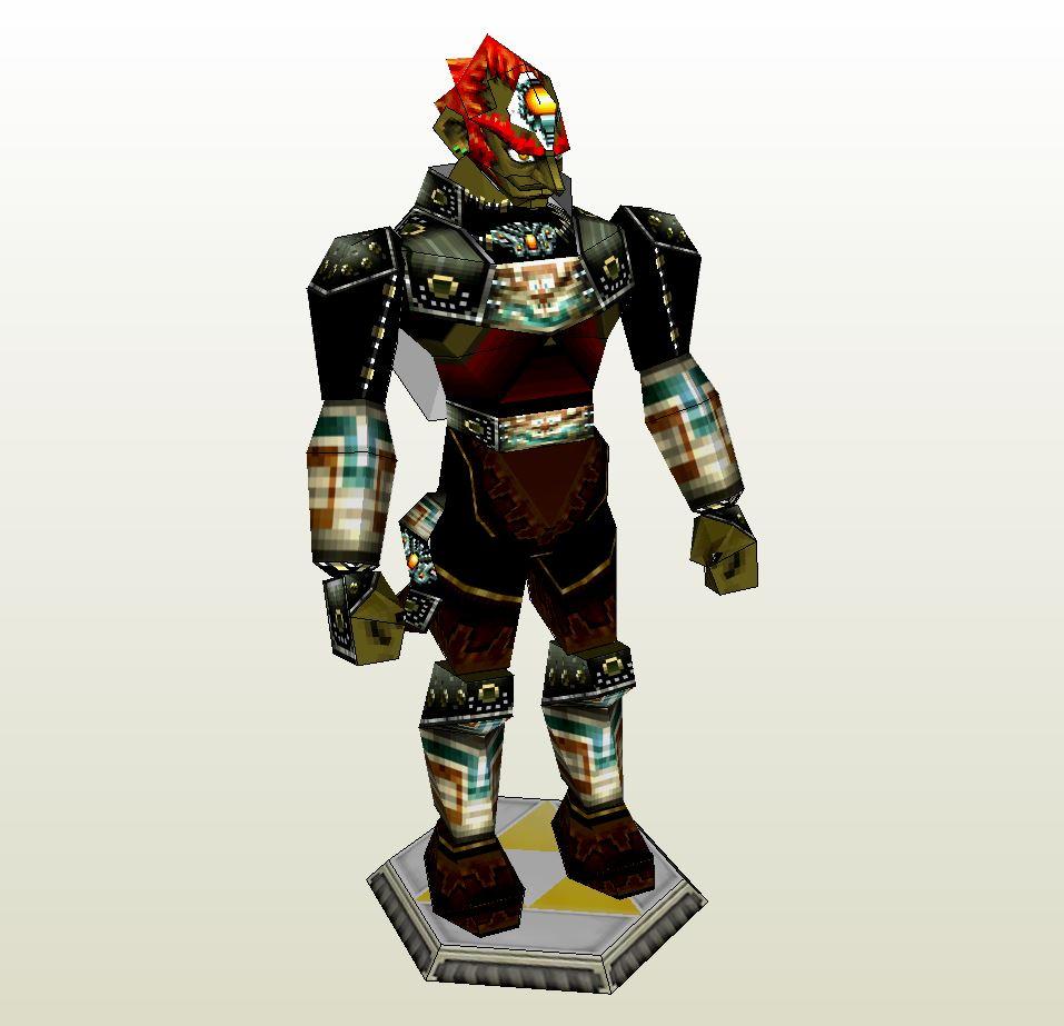 Papercraft Pdo File Template For Zelda Ganondorf