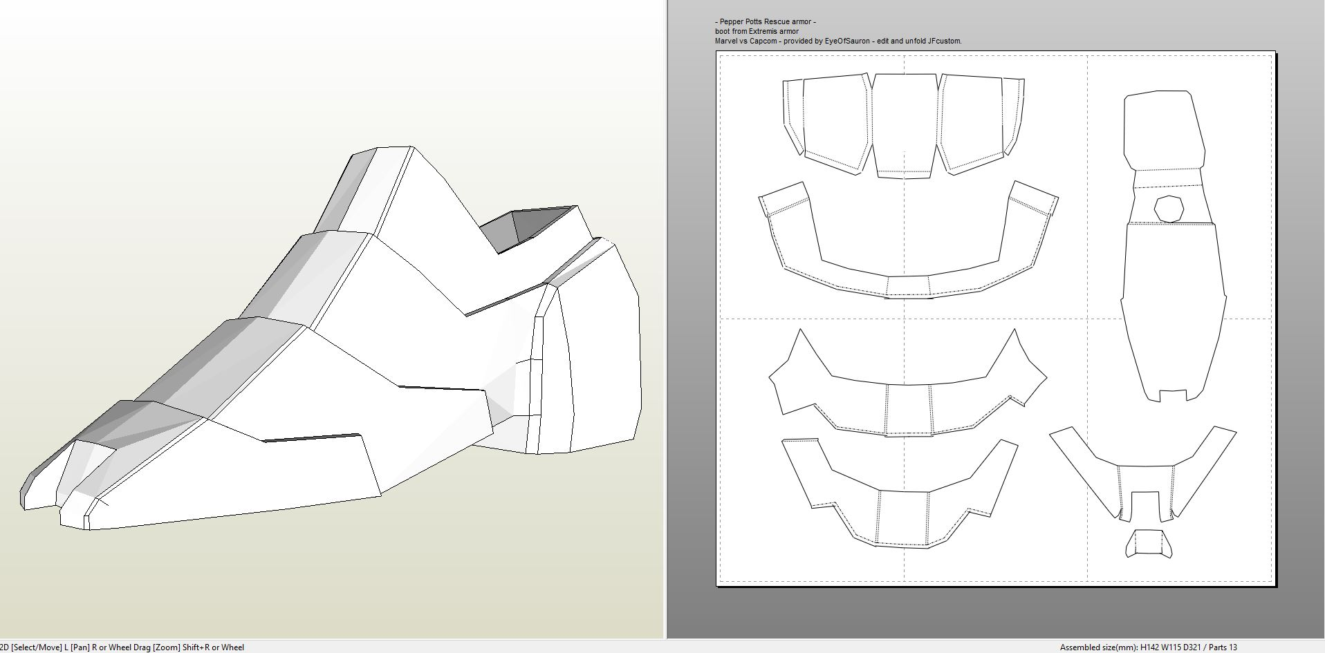 Foamcraft .pdo file template for Iron Man - Pepper Potts ...  Iron