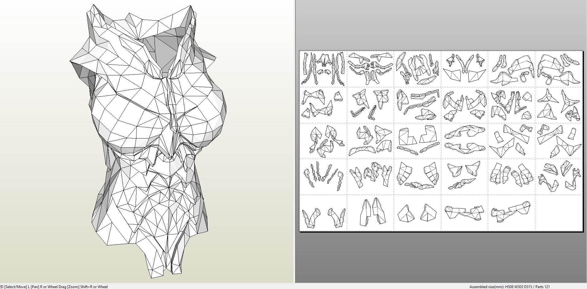 Papercraft  pdo file template for Skyrim – Full Daedric