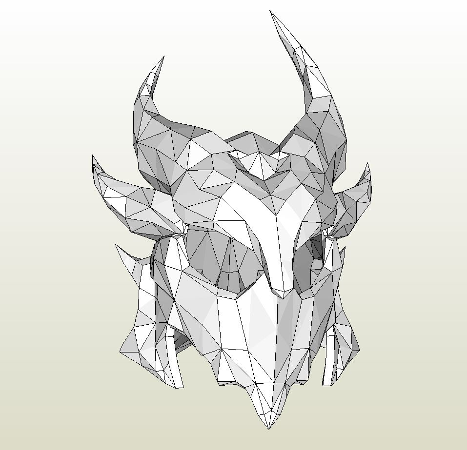 Papercraft pdo file template for skyrim full daedric armor male pronofoot35fo Image collections