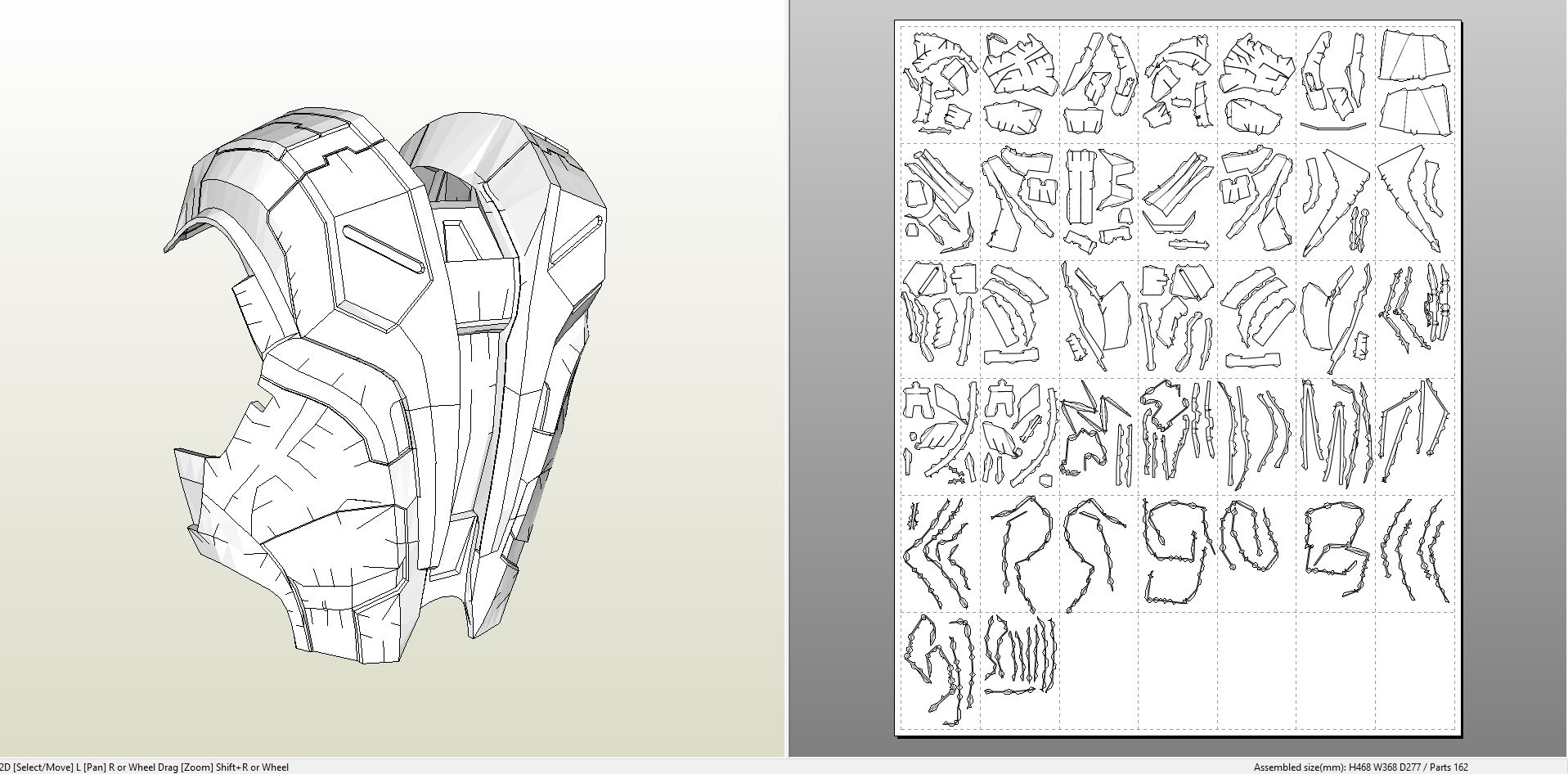 Papercraft pdo file template for iron man mk7 full armor for Iron man suit template