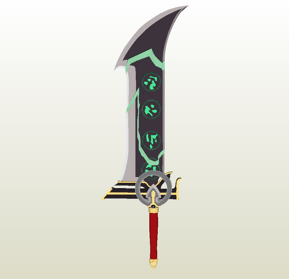 Papercraft  pdo file template for League of Legends – Redeemed Riven