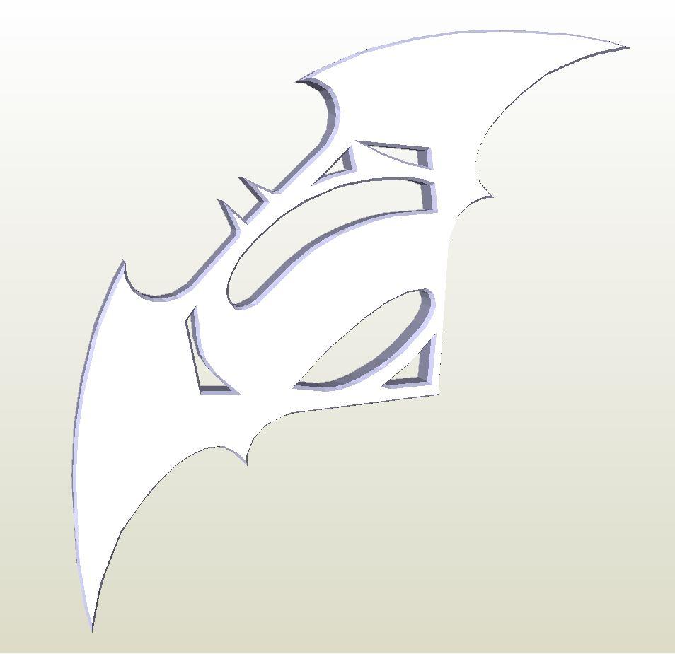 Papercraft .pdo File Template For Batman Vs Superman