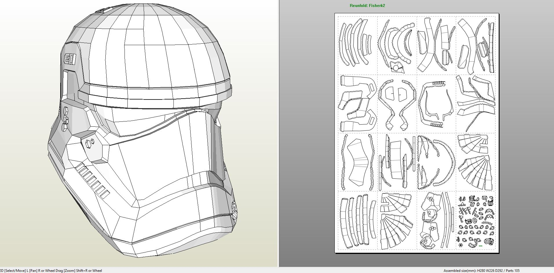 papercraft pdo file template for star wars ep 7 stormtrooper full