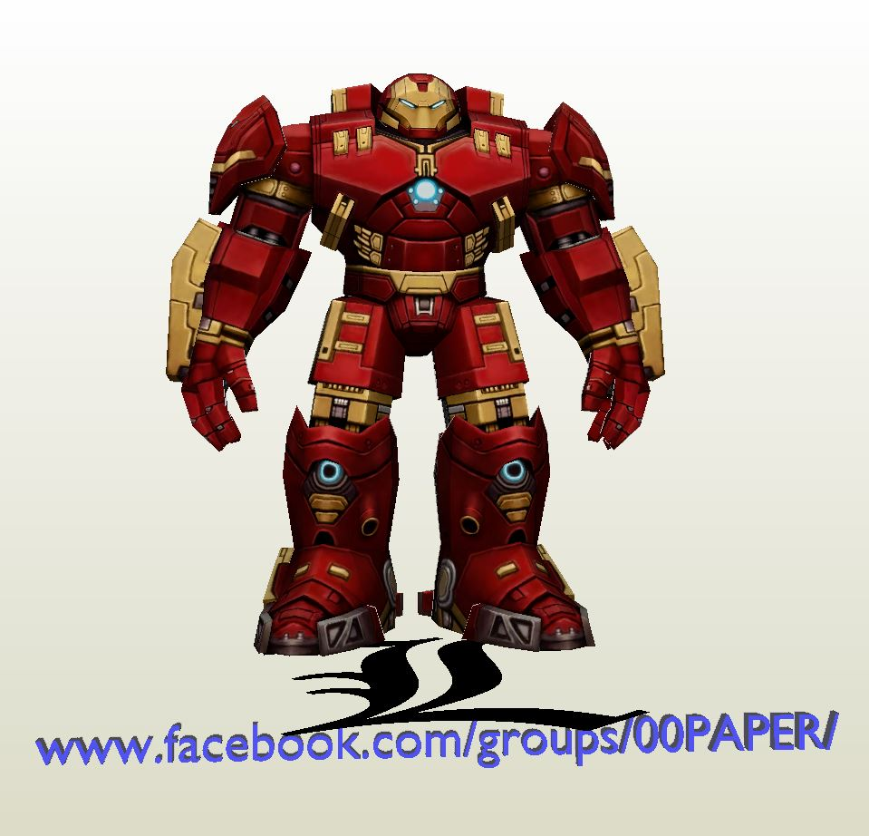 Papercraft Pdo File Template For Iron Man Hulkbuster Figure