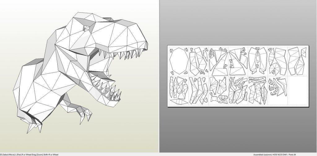 dinosaurtrexwallbust