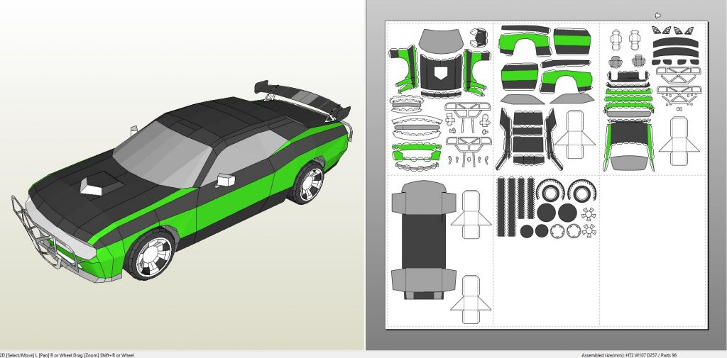 Papercraft pdo file template for the fast and the furious for Papercraft lancia
