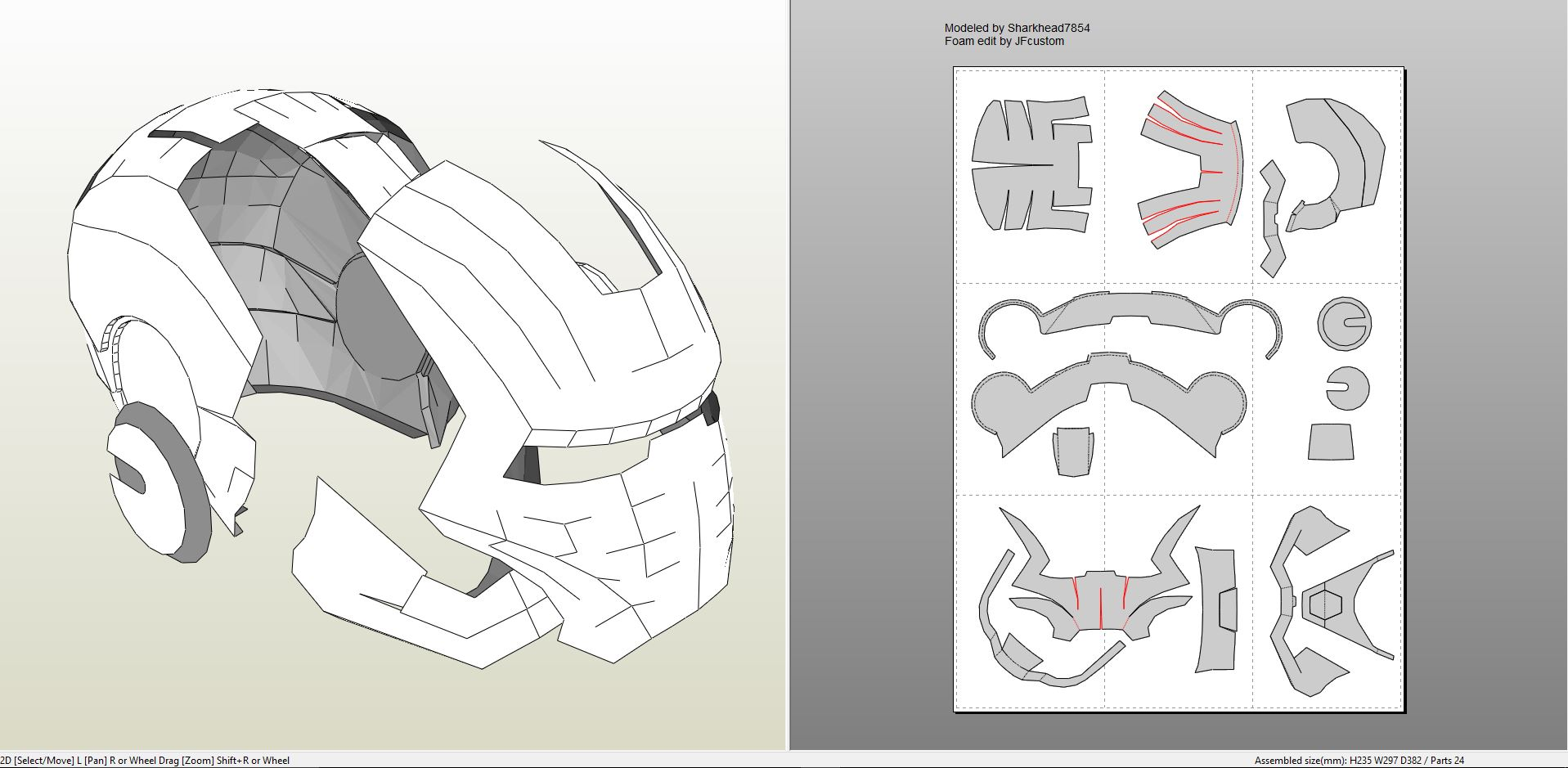 iron man foam armor templates iron man mark 2 full armor foam