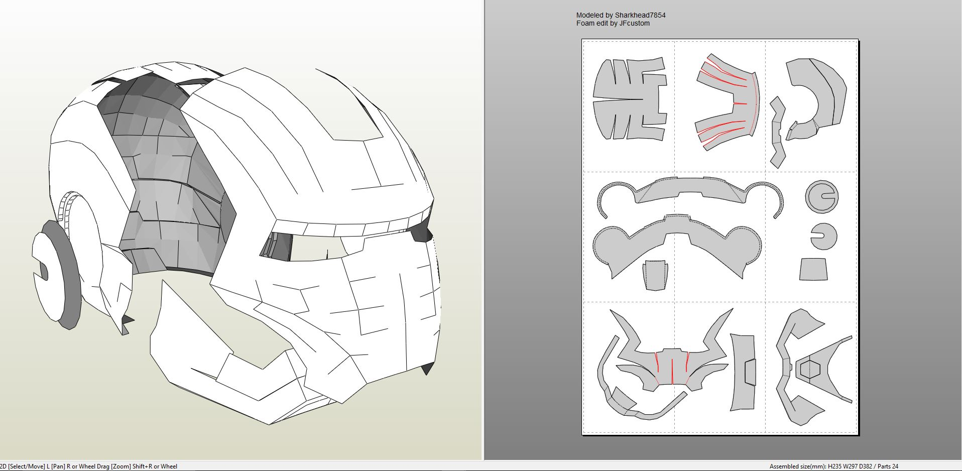 Iron man mk iii full armor foam for Iron man foam armor templates