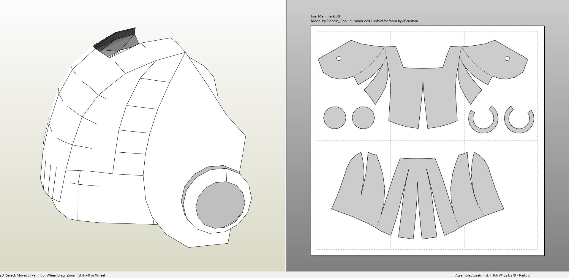 Iron man foam helmet template pdf for Iron man foam armor templates