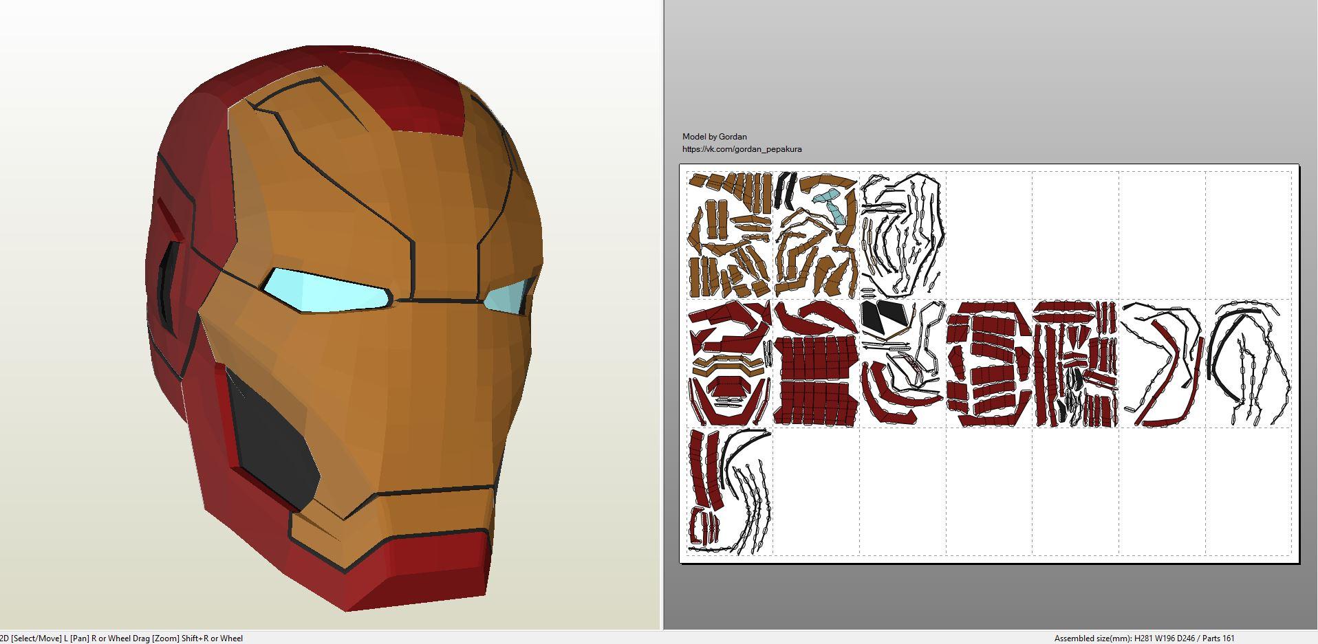 Iron Man Mark 46 Helmet Pepakura