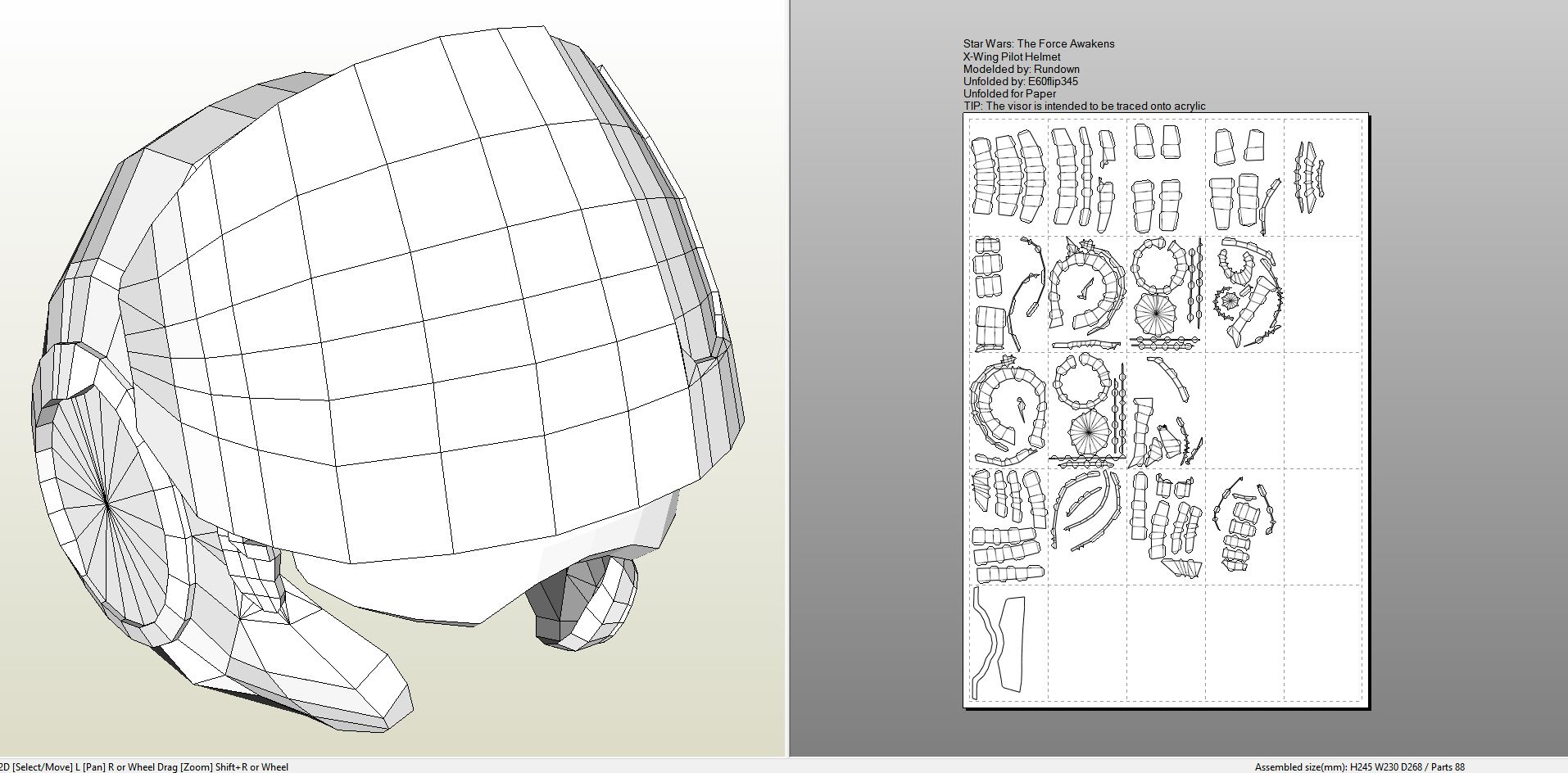 Papercraft .pdo File Template For Star Wars