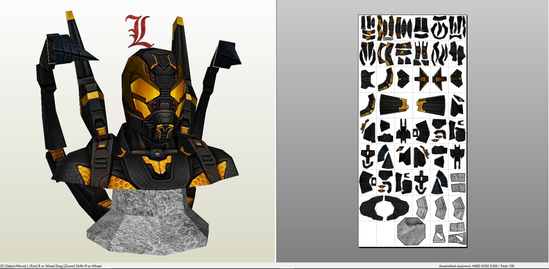 Pictures Of Paper Craft Mech Suit