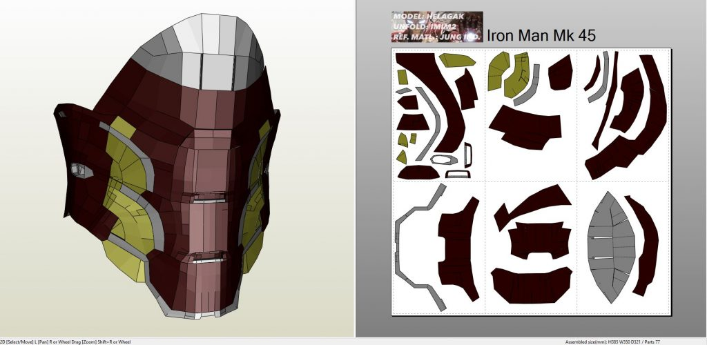 Iron man mark 45 full armor foam for Iron man foam armor templates