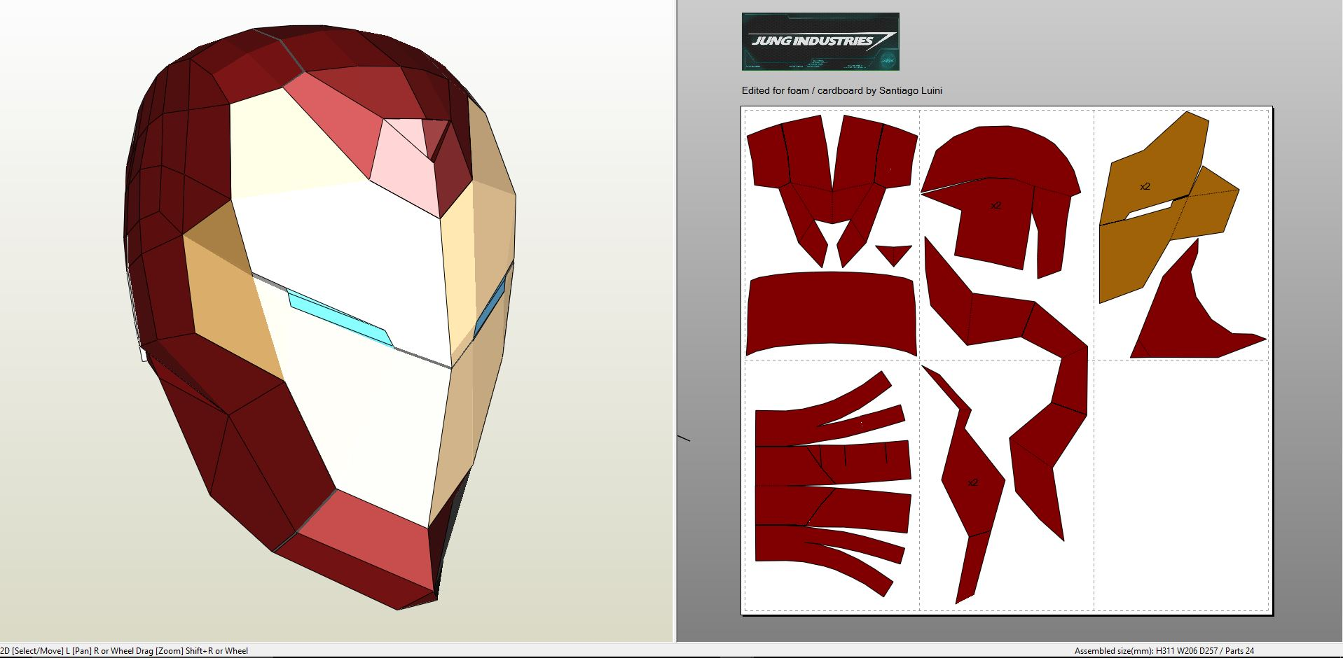 iron man foam armor templates - invincible iron man helmet
