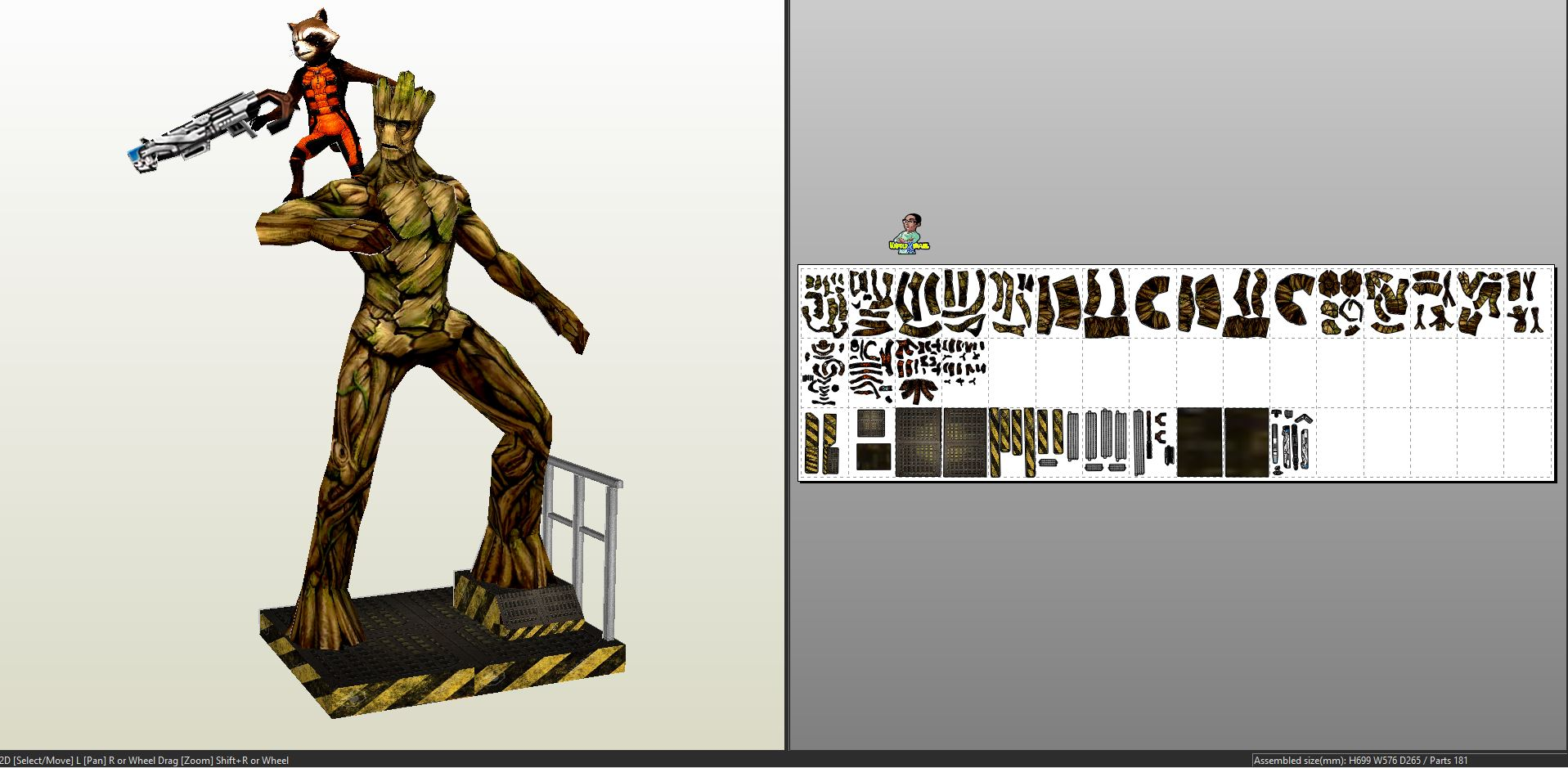 Guardians of the Galaxy - Rocket and Groot Diorama ... - photo#19