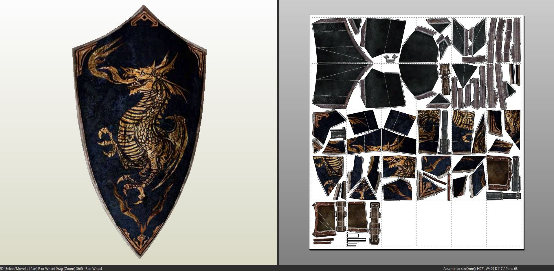 Dark Souls – Dragon Crest Shield – Pepakura eu